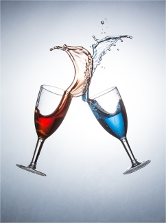 A Splash of Red and Blue by Jim Berkshire