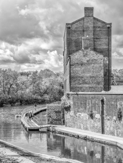 The Old Coal Building beside the River by Susan Grimes
