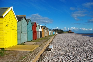 Beach huts (Budleigh Salterton) by Stephen Gates ARPS