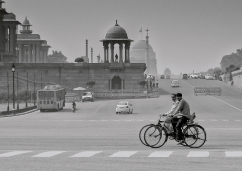 Cycling in New Delhi by Dave Harris LRPS