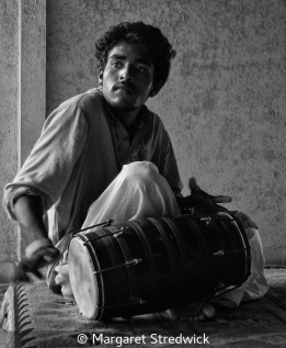 Traditional Drummer by Margaret Stredwick