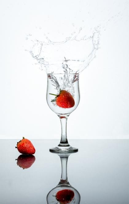 A Splash of Strawberry by Jim Berkshire