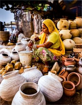 Decorating Pots - Jodhpur Market by Robert Williams