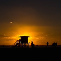 Silhouette at Sunset by John McCarthy LRPS