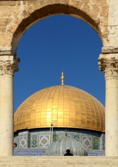 Domes of the Temple Mount by Margaret Stredwick
