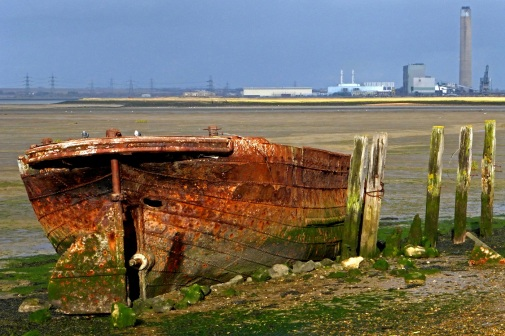The Old Barge by Stephen Gates ARPS