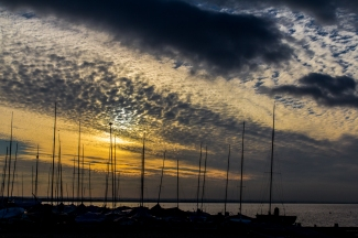 Dusk at Whitstable by Den Heffernon