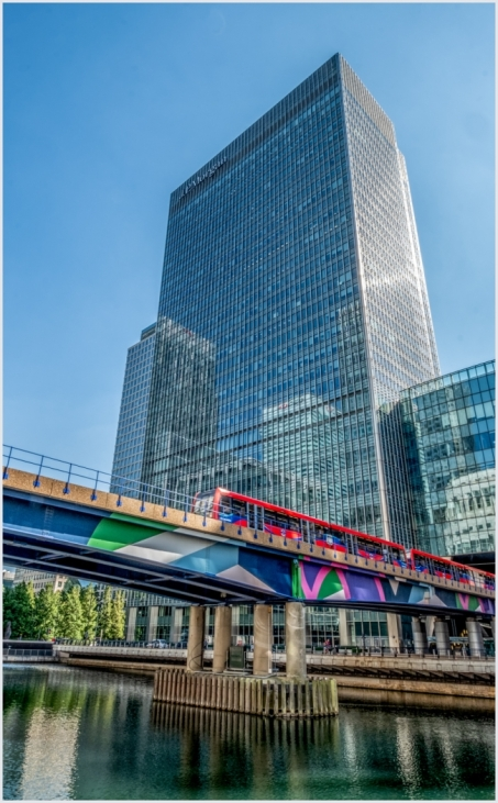Colours at Canary Wharf by Susan Grimes