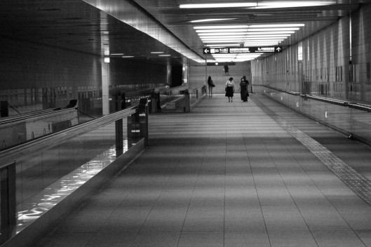 Weekend Subway, Tokyo by Christine Barrass