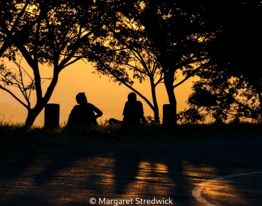 Sunset Conversation by Margaret Stredwick