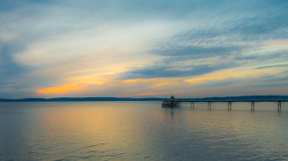 Sunset at Clevedon by Den Heffernon