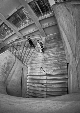 Down the Stairs by Dave Harris LRPS