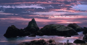 Sunset at Kynance Cove by Margaret Stredwick